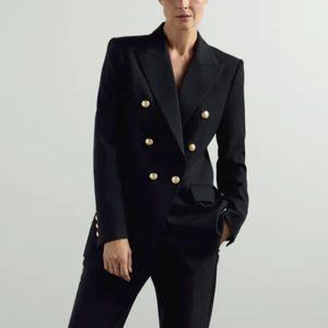 Blazer with Gold Buttons